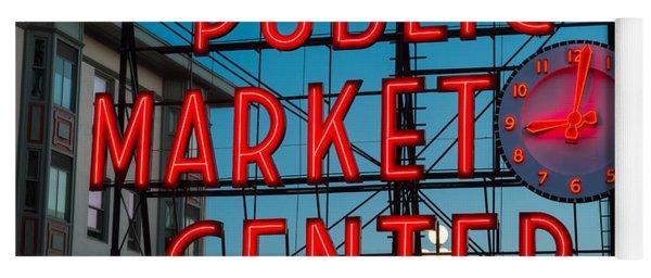 Pike Place Public Market Seattle Yoga Mat