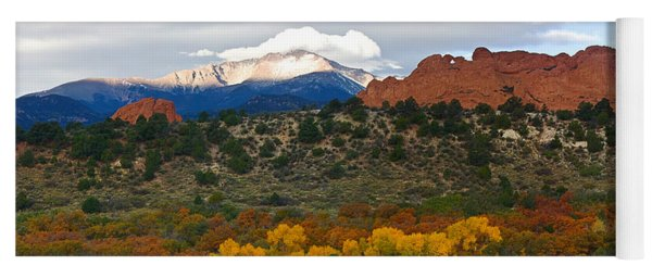 Pikes Peak Fall Pano Yoga Mat