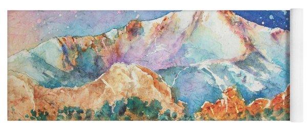 Pikes Peak Over The Garden Of The Gods Yoga Mat