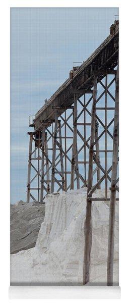 Pile Of Sea Salt Under Conveyor Of Saline Refinery Yoga Mat