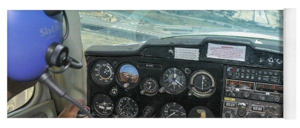 Pilot In Cessna Cockpit Yoga Mat