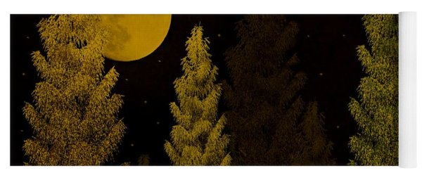 Yoga Mat featuring the photograph Pine Forest Moon by David Dehner