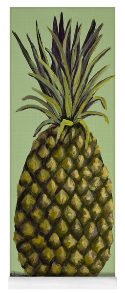 Pineapple On Green Yoga Mat
