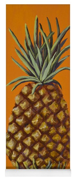 Pineapple On Orange Yoga Mat