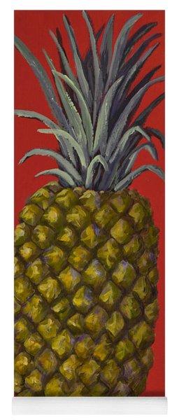 Pineapple On Red Yoga Mat