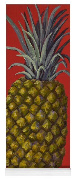 Pineapple On Red Yoga Mat