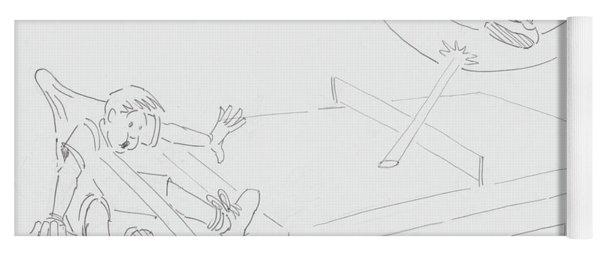 Ping Pong Cartoon Yoga Mat