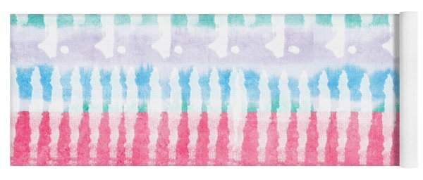Pink And Blue Tie Dye Yoga Mat