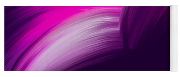 Pink And Purple Curves Yoga Mat