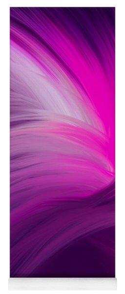 Pink And Purple Swirls Yoga Mat