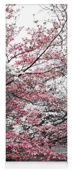 Pink And White Dogwood Trees Yoga Mat