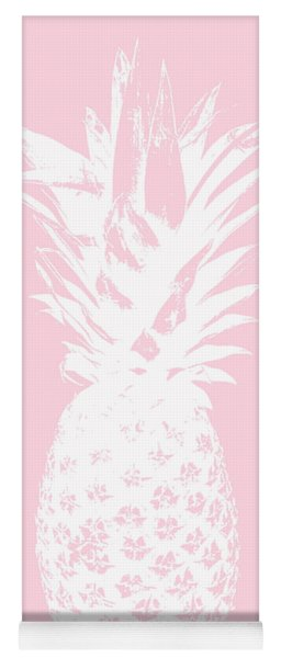 Pink And White Pineapple Yoga Mat