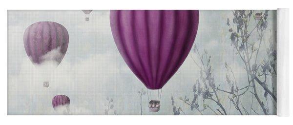 Pink Balloons Yoga Mat