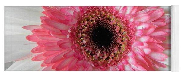 Pink Daisy Flower Yoga Mat