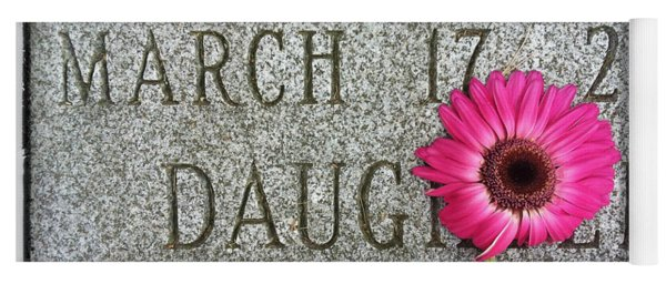 Pink Daisy On Grave For Daughter Yoga Mat