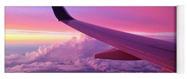 Pink Flight Yoga Mat