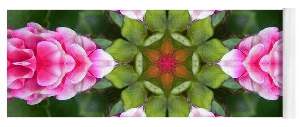 Pink Flower Star Mandala Yoga Mat