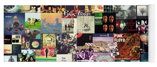 Pink Floyd Collage I Yoga Mat