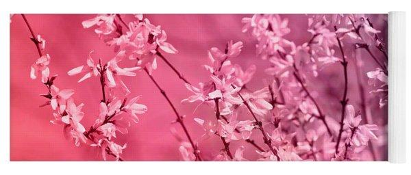 Pink Forsythia Yoga Mat