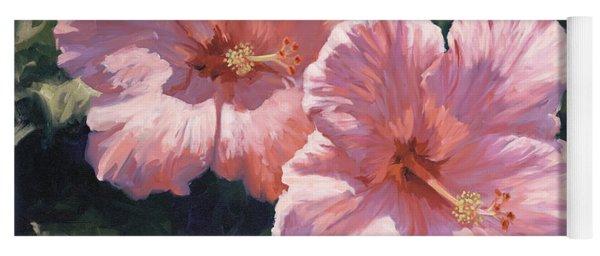 Pink Hibiscus Yoga Mat