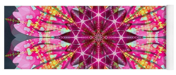 Pink Lightning Yoga Mat