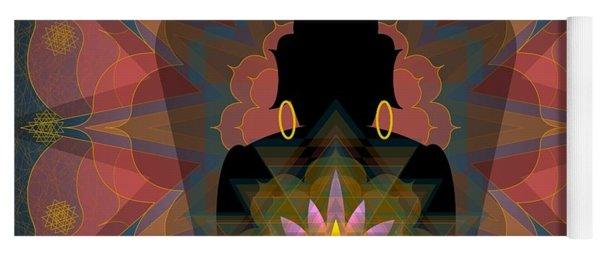 Pink Lotus Buddha Yoga Mat