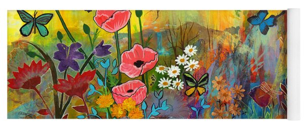 Pink Poppies In Paradise Yoga Mat