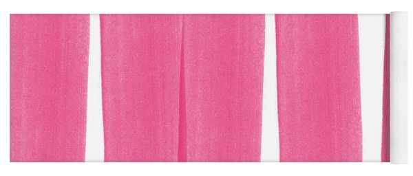 Pink Ribbons- Colorful Abstract Watercolor Painting Yoga Mat