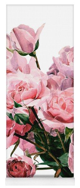 Pink Rose Bouquet Yoga Mat