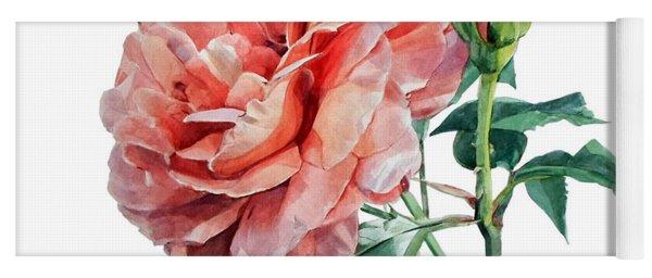 Pink Rose Odette  Yoga Mat