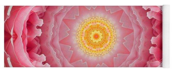 Pink Rose Sunshine Mandala Yoga Mat