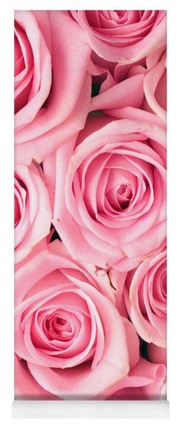 Pink Roses Yoga Mat