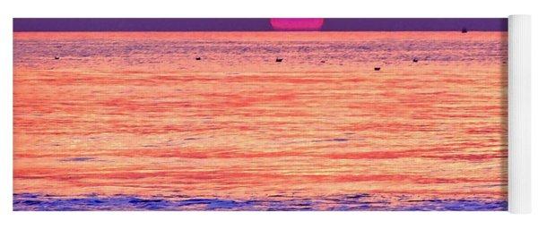 Pink Sun Yoga Mat