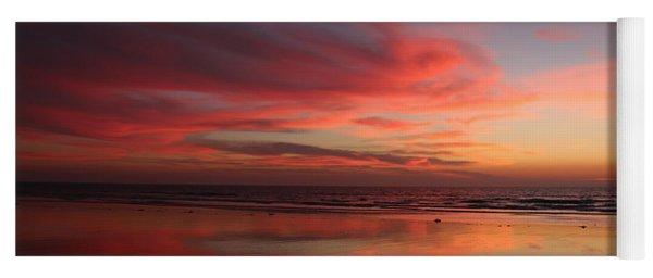 Ocean Sunset Reflected  Yoga Mat