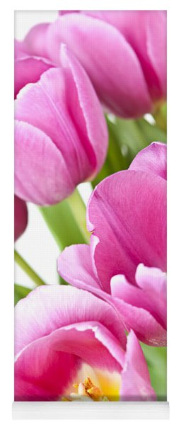Pink Tulips Yoga Mat