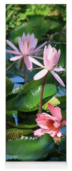 Pink Water Lillies Yoga Mat