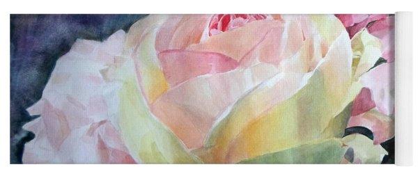 Pink Yellow Rose Angela Yoga Mat