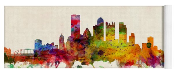 Pittsburgh Pennsylvania Skyline Yoga Mat