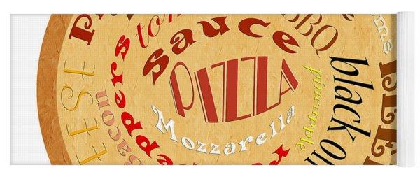 Pizza Typography 2 Yoga Mat