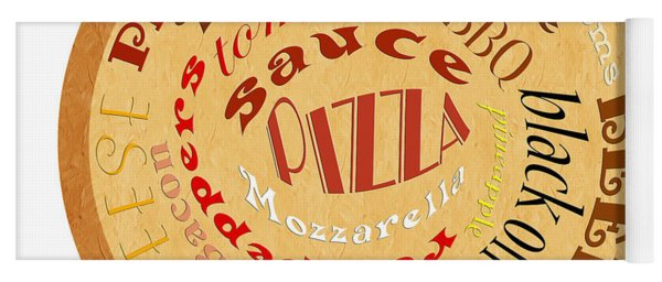 Pizza Typography 2 Yoga Mat
