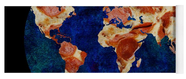 Pizza World Yoga Mat