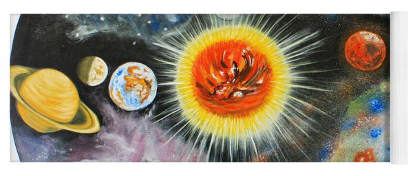 Planets And Nebulae In A Day Yoga Mat