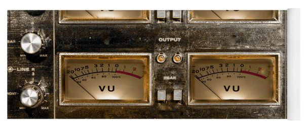 Playback Recording Vu Meters Grunge Yoga Mat