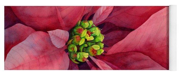 Plum Poinsettia Yoga Mat