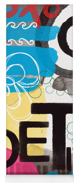 Poetry- Contemporary Abstract Painting Yoga Mat
