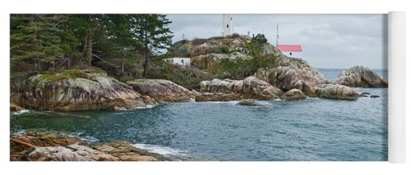 Point Atkinson Lighthouse And Rocky Shore Yoga Mat