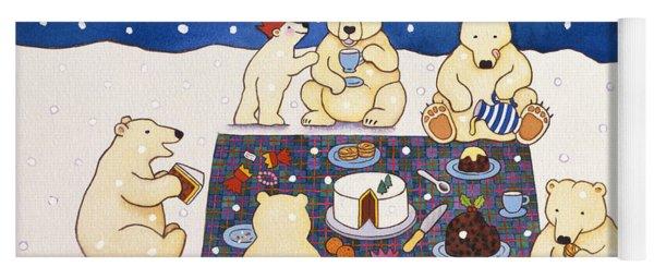 Polar Bear Picnic Yoga Mat