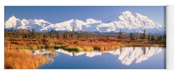 Pond, Alaska Range, Denali National Yoga Mat