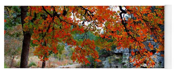 Fall At Lost Maples State Natural Area Yoga Mat