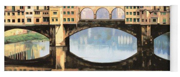 Ponte Vecchio A Firenze Yoga Mat